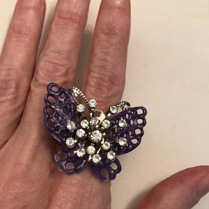 Purple Butterfly ring🦋